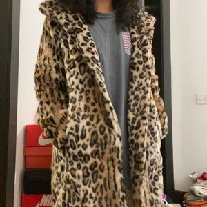 Faux Fur Cheetah Coat